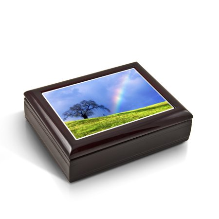 Natures Wonders - A Rainbow Is Born Tile Musical Jewelry Box - 12 Days of Christmas - SWISS
