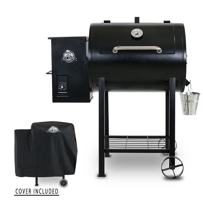 PIT BOSS 700FB WOOD PELLET GRILL BUNDLE - GRILL COVER INCLUDED