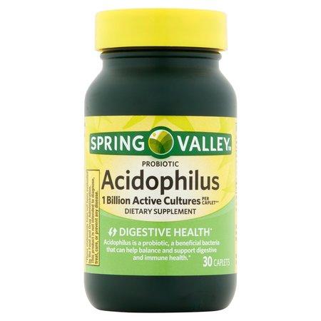 Spring Valley Acidophilus Probiotic Caplets, 5 mg, 30 Ct ()