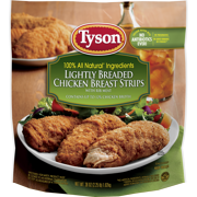 Tyson® Fully Cooked Lightly Breaded Chicken Strips, 36 oz. (Frozen)
