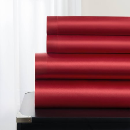 Majestic Excellence Luxuriously Soft Satin, 4 Piece Sheet Set
