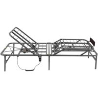 """Pragmatic 14"""" High Profile Dual Adjustable Steel Bed Frame with Under-Bed Storage, Easy No Tools Assembly"""