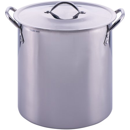 - Mainstays Stainless Steel 12 Quart Stockpot with Lid