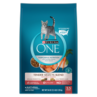 Purina ONE Tender Selects Blend With Real Salmon Adult Dry Cat Food, 3.5 lb