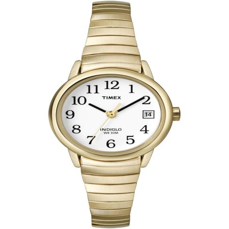 Women's Easy Reader Watch, Gold-Tone Stainless Steel Expansion (Timex Set Bracelet)
