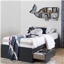 """South Shore Aviron Twin Mates Bed (39"""") with 3 Drawers, Multiple Finishes"""