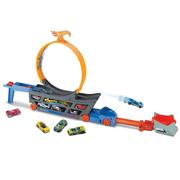 Hot Wheels Stunt & Go Transforming Track with 1 Hot Wheels Vehicle