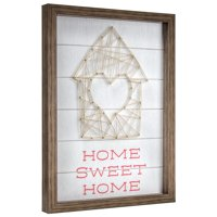 Home Sweet Home Wood Framed Wall Decor 12x16