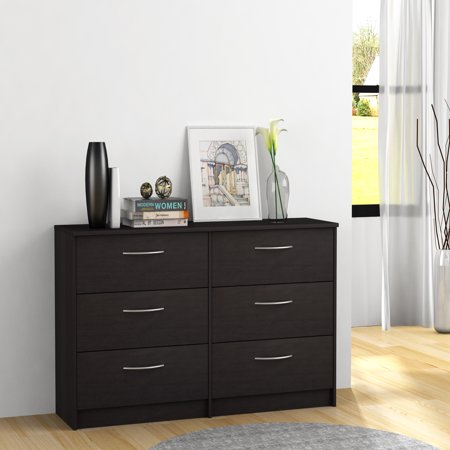 Homestar Finch Collection 6-Drawer Dresser, Multiple Finishes (Espresso Lingerie Chest)