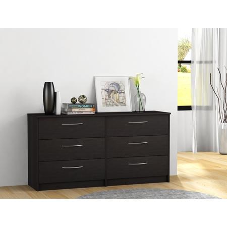 Homestar Finch Collection 6-Drawer Dresser, Multiple Finishes ()