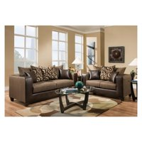 Flash Furniture Riverstone Object Chenille Loveseat and Sofa Set