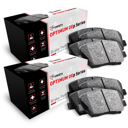 For 2004 Jaguar XJ8 Front and Rear R1 OE Optimum Series Brake Pads