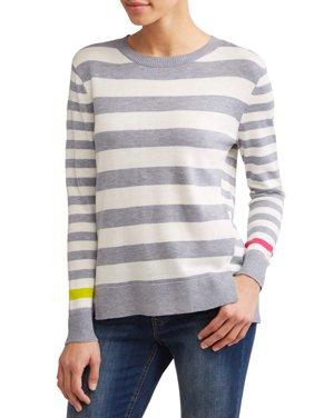 Striped High-Low Sweater Women's