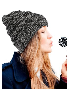 2d24305cfb5 Product Image Zodaca Warm Winter Chunky Slouchy Soft Stretch Knit Lined  Knitted Beanie Skully Cap Baggy Hat for
