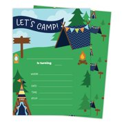Camping Boys 3 Happy Birthday Invitations Invite Cards 25 Count With Envelopes Seal