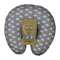 Organic Nursing Pillow Slipcover Gray Ivy Design Maternity Breastfeeding Newborn Infant Feeding Cushion Cover Case Baby Shower Gift for New Moms