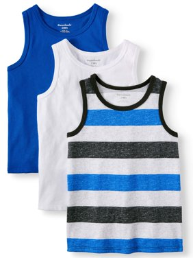 Solid & Striped Jersey Tank Tops, 3pc Multi-Pack (Toddler Boys)