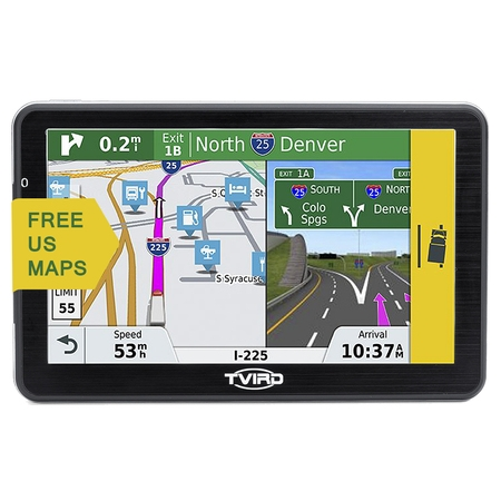 Sony Gps - Tvird 3D GPS Navigator for Car with 7 Inch HD Touch Screen, Super-narrow Bezel Design,Multimedia SAT NAV Voice Prompt +USB Cable+Car Charger+ Free US Map