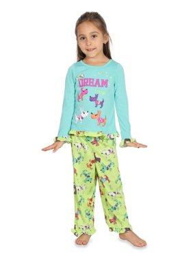 """Komar Kids """"Waiting Up For Santa"""" Toddler Girls 2 Piece Pajama Set, Dogs, Size: 2T"""