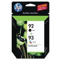 HP 92 Black & 93 Tri-color Original Ink Cartridges, 2 pack (C9513FN)