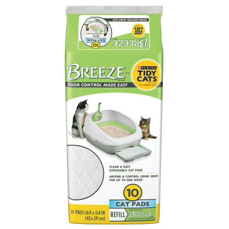 Purina Tidy Cats Cat Pads; BREEZE Refill Pack - 10 ct. Pouch