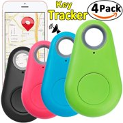 4 Pack Smart GPS Tracker Key Finder Locator Wireless Anti Lost Alarm Sensor Device for Kids Dogs Car Wallet Pets Cats Motorcycles Luggage Remote Camera Smart Phone iOS Android by JingStyle
