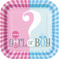 Gender Reveal Party Paper Dinner Plates, 9in, 8ct