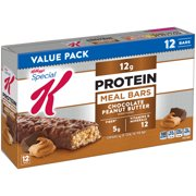 (2 Pack) Kellogg's Special K Protein Meal Bar, Chocolate Peanut Butter, 12g Protein, 12 Ct