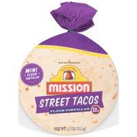 Mission Flour Street Tacos Tortillas, 12 ct, 11 oz