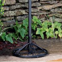 Arlington House Wrought Iron Outdoor Umbrella Base, Charcoal