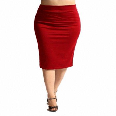 Sassy Apparel Womens Comfortable Elastic Below Knee Fashion Pencil (Poly Fashion Women Apparel Wholesale)