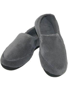 Men's Microterry Memory Foam Indoor/Outdoor Slip-On Slippers