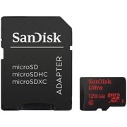 Sandisk 128 GB Ultra Microsdxc Memory Card with Adapter
