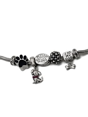 Stainless Steel Limited Edition Dog Bracelet and Charm Pack