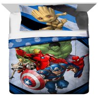 Marvel Fight Club Twin & Full Kid's Bedding Comforter and Sham Set, 2 Piece