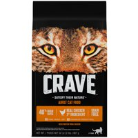 Crave Grain-Free with Protein from Chicken Adult Dry Cat Food, 2 lb