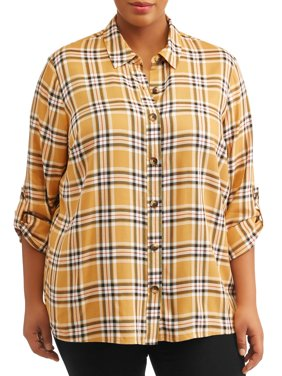 Women's Plus Size Button Down Shirt