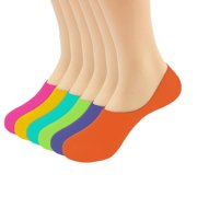 Magg Womens Quality No-Show Sports Ultra Low Cut No Show Liner Casual Socks (Colorful Shade 12-pack assorted)