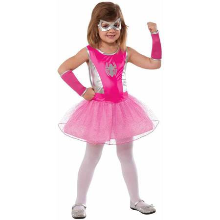 Marvel Pink Spider-Girl Girls' Child Halloween Costume](Turned Into A Girl For Halloween)