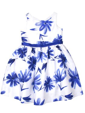 Bow Back Floral Shantung Easter Dress (Little Girls, Big Girls & Big Girls Plus)