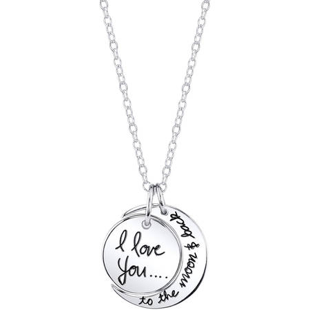 Sterling Silver I Love You To The Moon and Back Necklace](Fireflies Necklace)