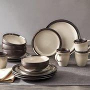 Better Homes & Gardens Sierra Dinnerware, Beige, Set of 16
