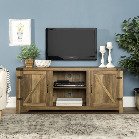 58 Barn Door Tv Stand With Side Doors For Tvs Up To 65 Multiple