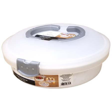 Mainstays 3-in-1 Round Cake Carrier with Lid