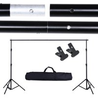 10Ft Adjustable Photo Backdrop Photo Vedio Studio Backdrop Support Stand Crossbar Kit Portrait Shooting