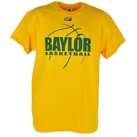 NCAA Baylor Bears Basketball Yellow Short Sleeve Cotton Mens Tshirt Tee XLarge