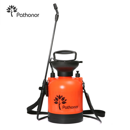 PATHONOR Super Garden Sprayer, 4L/1 Gal Pressure Sprayer weed Sprayer with 22 inch Wand and 51 inch hose for Fertilizer Herbicides - Sprayer Accessories
