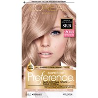 L'Oreal Paris Superior Preference Permanent Hair Color, 8RB Medium Rose Blonde