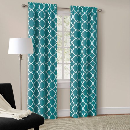 2 Panel Curtain Set - Mainstays Calix Fashion Window Curtain Panel, Set of 2
