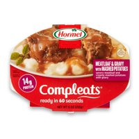 (3 Pack) Hormel Compleats Meatloaf & Gravy with Mashed Potatoes, 9 Ounce